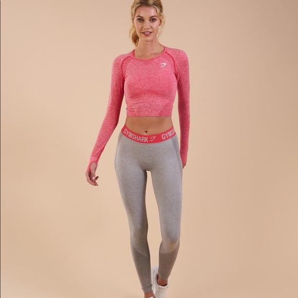 3e6d8657295b2 Gymshark Pants | Flex Leggings Light Grey Marlsherbet Pin | Poshmark